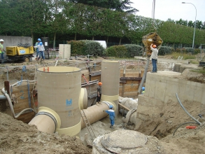 Mise en place d'un système d'assainissement par l'entreprise Blanloeil
